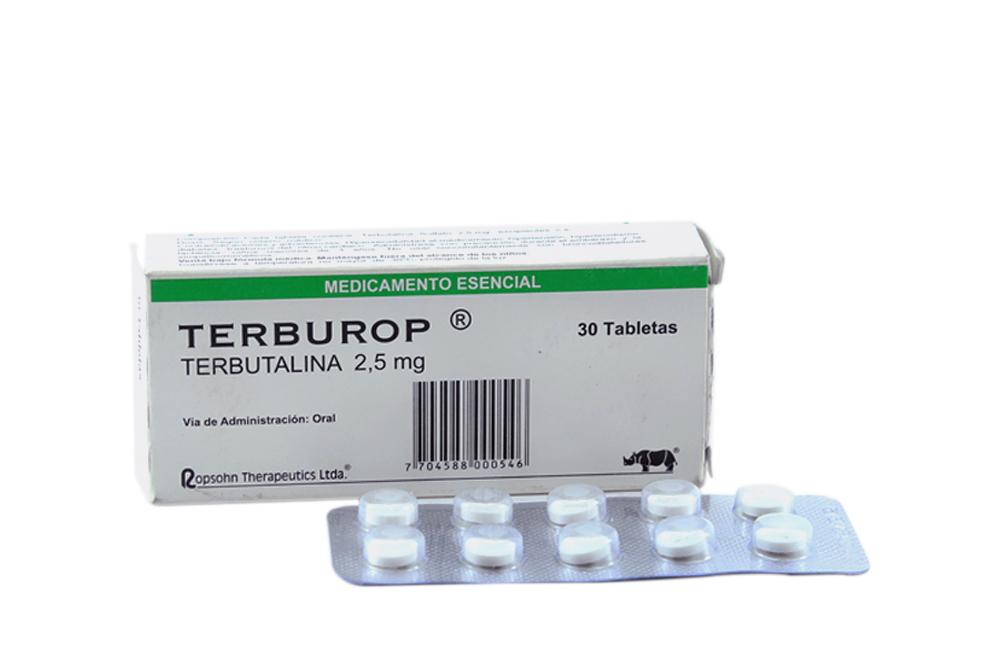 Terburop 2.5 mg Caja Con 30 Tabletas Rx