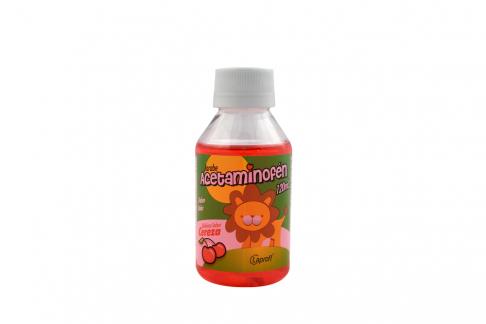 Acetaminofén Jarabe 150 mg / 5 mL Frasco Con 120 mL