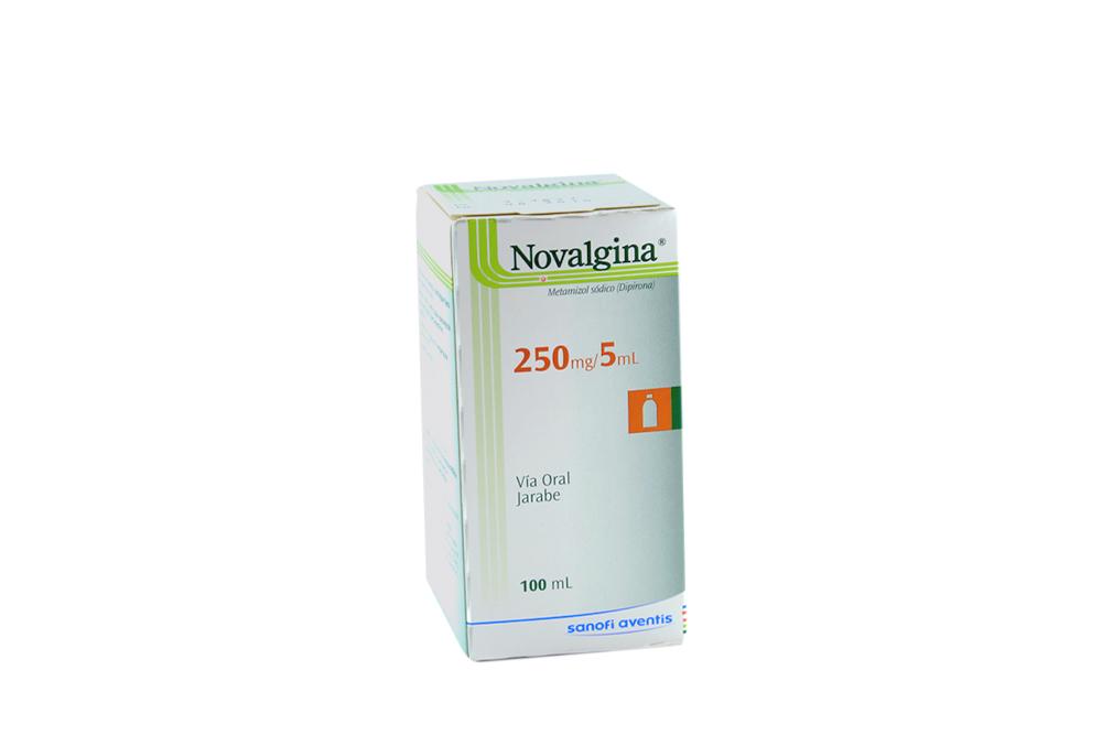 Novalgina Jarabe 250 mg / 5 mL Caja Con Frasco Con 100 mL Rx