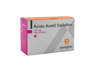 Ácido Acetil Salicílico Memphis 100 mg Caja Con 100 Tabletas