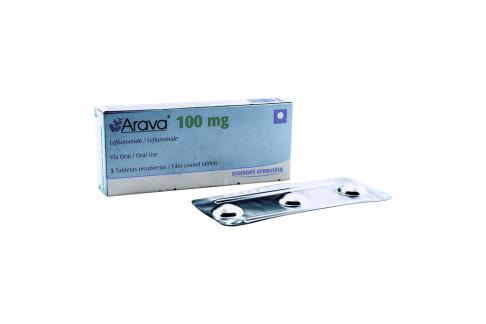 Arava 100 mg Caja Con 3 Tabletas Recubiertas Rx1