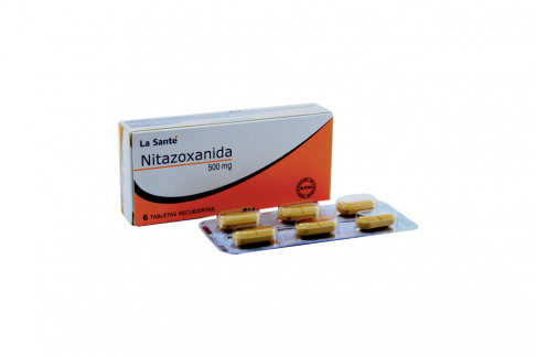 Nitazoxanida 500 mg Caja x 6 Tabletas Recubiertas Rx-
