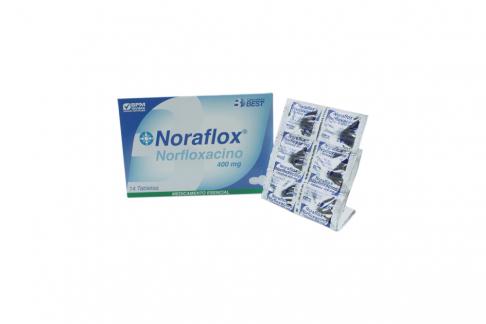 Noraflox 400 mg Caja Con 14 Tabletas Rx