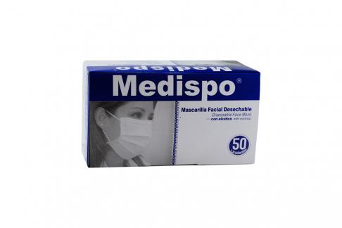 Mascarilla Facial Desechable Medispo Caja Con 50 Unidades
