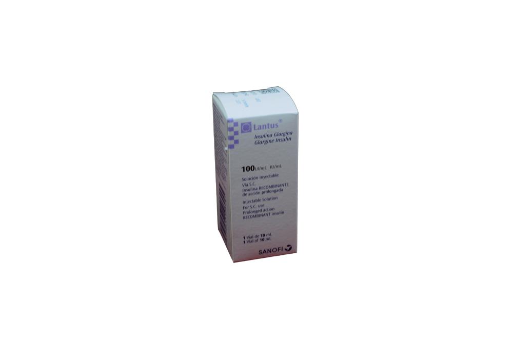 Lantus Solución 100 U.I Caja Con 1 Víal Con 10 mL Rx3 Rx4 RX1