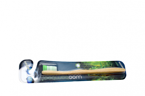 Cepillo Dental Woobamboo Adulto Dureza Media Empaque Con Unidad
