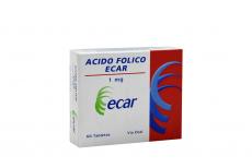 Ácido Fólico 1 mg Caja Con 60 Tabletas Rx