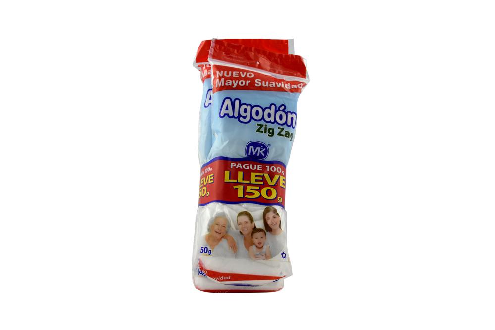 Algodon M.K Zig Zag Bolsa 150 Gramos Pague 100 Lleve 150 gr