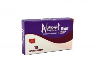 Alercet 10 mg Caja Con 10 Cápsulas Blandas