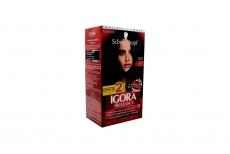 Tinte Igora Brillance 100 Negro Caja Con 1 Kit Con 2 Tubos