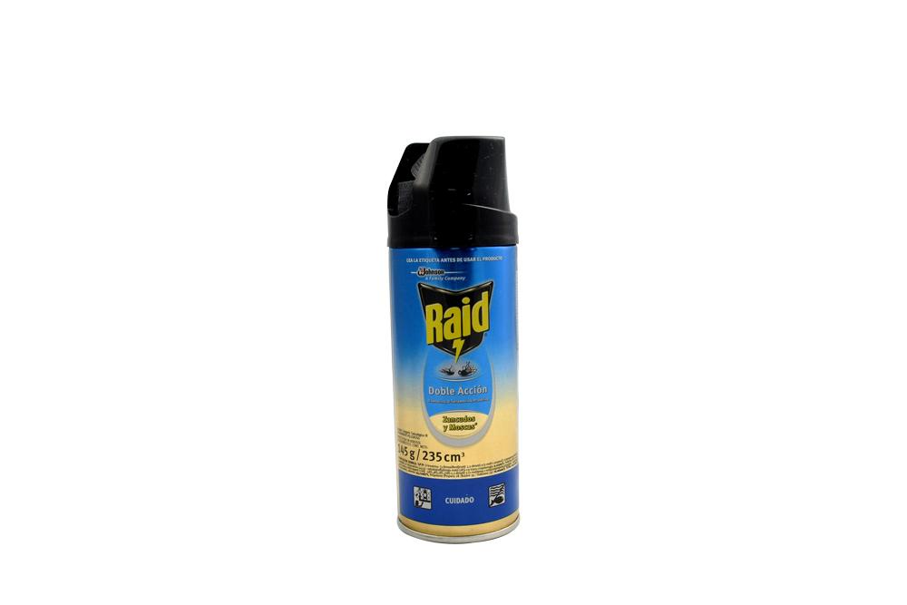 Insecticida Raid Doble Acción Zancudos y Moscas Frasco Con 235 mL