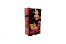 Tinte Igora Brillance 589i Rojo Borgoña Intenso Caja Con 1 Kit Con 2 Tubos