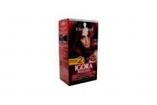 Tinte Igora Brillance 688 Rojo Rubí Caja Con 1 Kit Con 2 Tubos