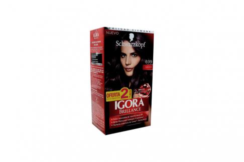 Tinte Igora Brillance 699 Amatista Caja Con 1 Kit Con 2 Tubos