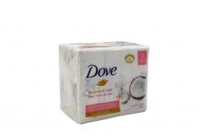 Jabón De Tocador Dove Leche De Coco Empaque Con 3 Barras Con 90 g C/U