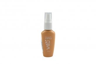 Base Fluida Vitu Vitamina E Y Filtro Solar Frasco Con 26 mL - Tono Nuez