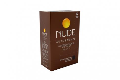 Autobronceador Nude Crema Caja Con 6 Sobres Con 20 mL C/U