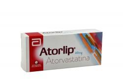 Atorlip 40 mg Caja Con 30 Tabletas Recubiertas Rx