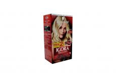 Tinte Igora Brillance 901 Rubio Extra Claro Cenizo Caja Con 1 Kit Con 2 Tubos