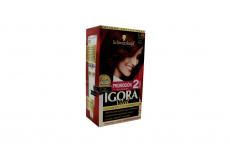 Tinte Igora Vital 5-88 Castaño Claro Rojizo Caja Con 1 Kit Con 2 Tubos