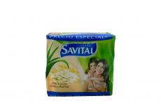 Jabón De Tocador Savital Sábila y Avena Empaque Con 3 Barras Con 125 g C/U