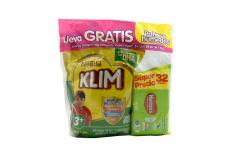 Klim Con DHA 3 + Bolsa Con 1000 g + Pañitos Húmedos Huggies Bolsa Con 32 Unidades
