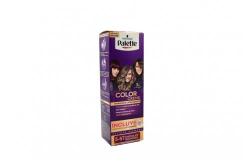 Tinte Palette Color Creme 5-57 Chocolate Macadamia Caja Con 1 Kit