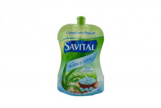 Crema Para Peinar Savital Con Biotina Frasco Con 95 mL
