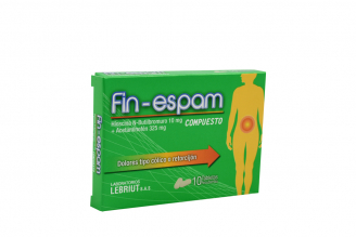 Fin-Espam Hioscina N-Butil Bromuro 10 Mg + Acetaminofen 325 Mg Caja Con 10 Tabletas