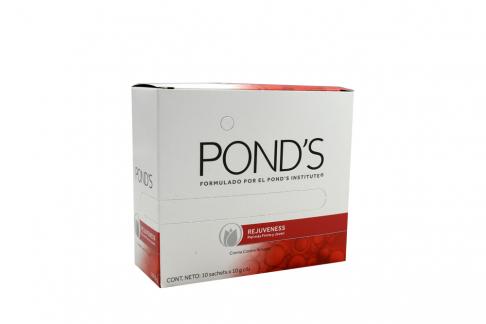 Crema Contra Arrugas Pond´s Rejuveness Caja Con 10 Sobres Con 10 g C/U