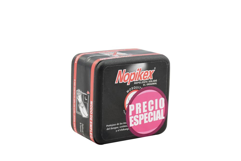 Repelente Nopikex Solido Caja Con Barra Con 50 g
