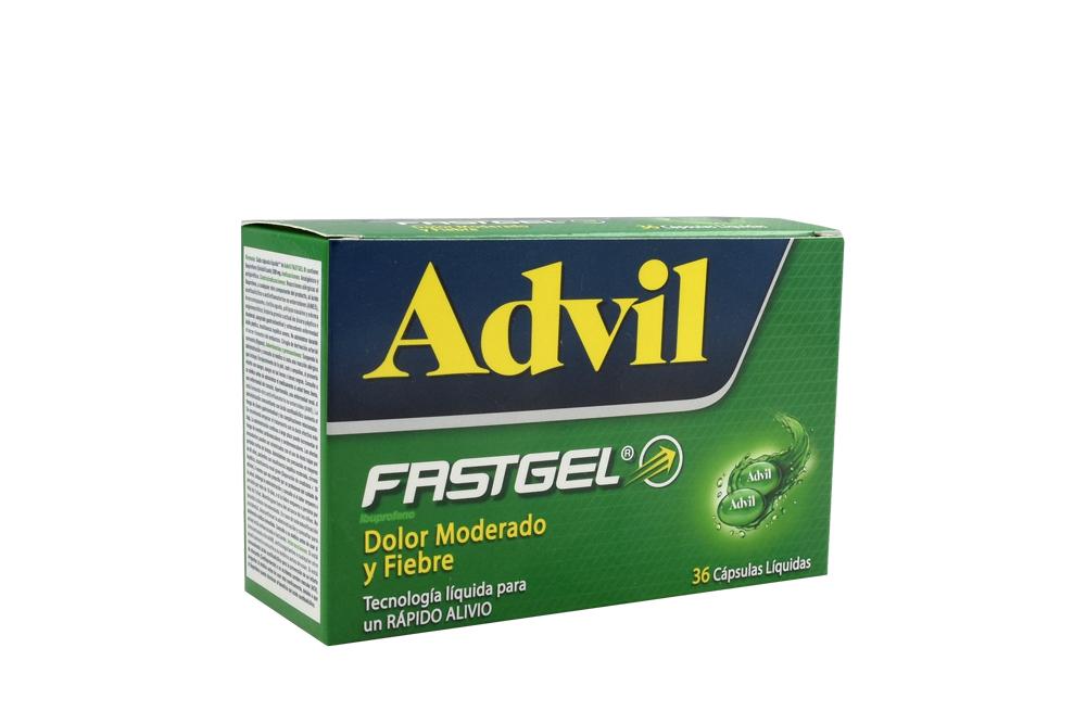 Advil Fastgel Caja Con 36 Cápsulas Líquidas