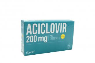 Aciclovir 200 mg Caja x 240 Tabletas Rx