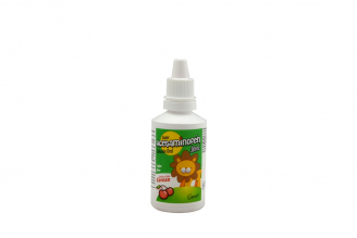 Acetaminofén Gotas Frasco Con 30 mL - Sabor Cereza