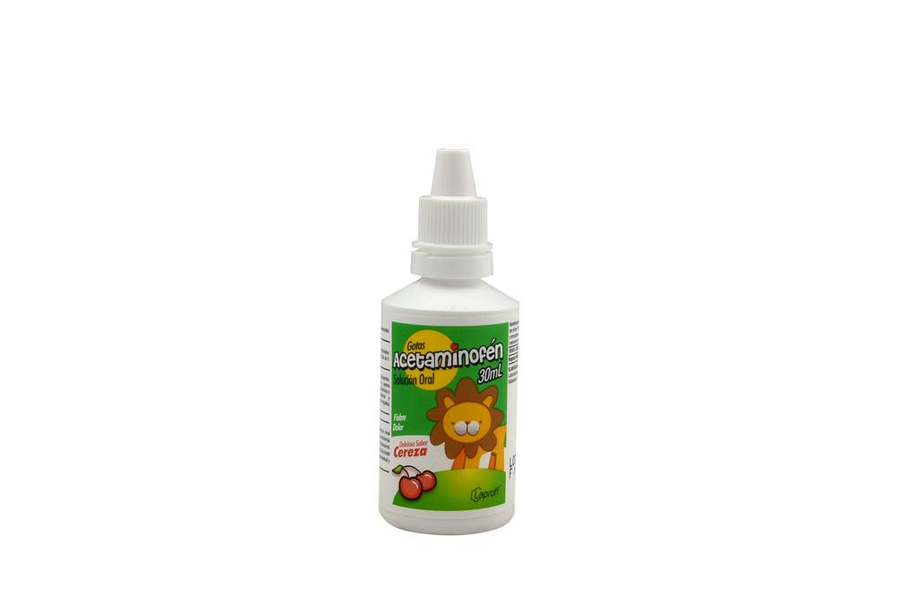 Acetaminofén Gotas Frasco Con 30 mL - Sabor Cereza