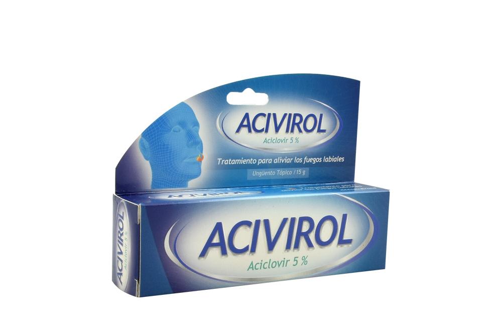 Acivirol 5% Ungüento Caja Con Tubo Con 15 g