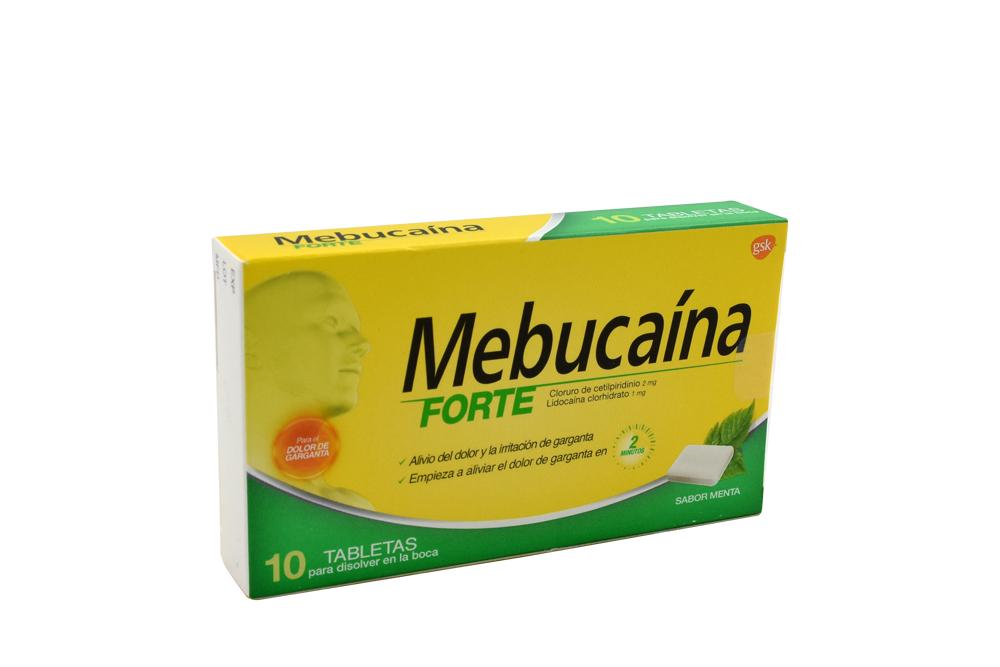 Mebucaína Forte Caja Con 10 Tabletas