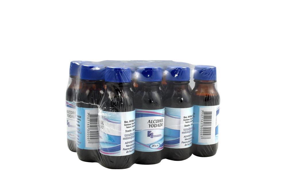 Alcohol Yodado Disanfer Empaque Con 12 Unidades