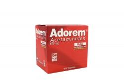 Adorem 500 mg Caja Con 100 Tabletas