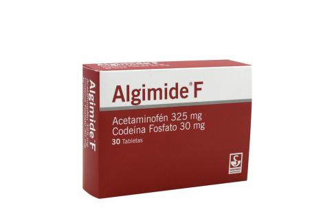 Algimide F 325 / 30 mg Caja Con 30 Tabletas RX