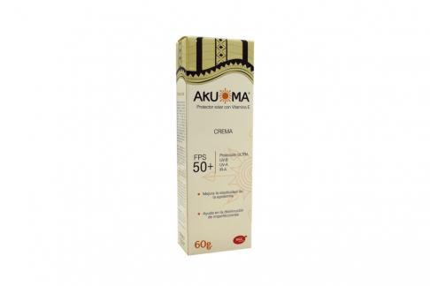 Akuoma Protector Solar Spf 50 Con Vitamina E Tubo Con 60 g