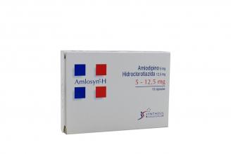 Amlosyn H 5 / 12.5 mg Caja Con 10 Cápsulas Rx4