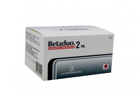Betaduo 2 mL Suspensión Inyectable Caja Con 12 Viales Rx