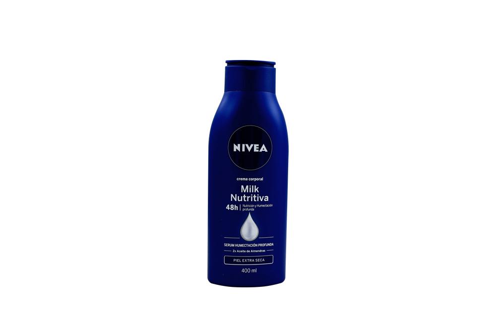 Crema Corporal Nivea Milk Nutritiva Humectación Profunda Frasco Con 400 mL
