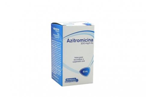 Azitromicina 200 mg / 5 mL Suspensión Caja Con Frasco Con 15 mL Rx