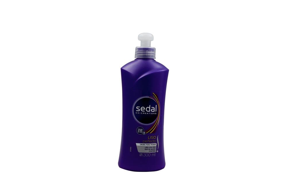 Crema Para Peina Sedal Liso Perfecto Frasco Con 300 mL