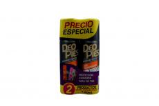 Deo Pies Desodorante Para Pies Empaque Con 2 Frascos Con 260 mL C/U