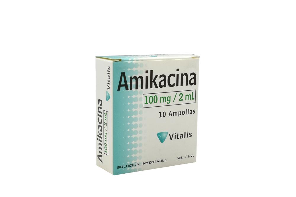 Amikacina 100 mg / 2 mL Caja X 10 Ampollas RX2