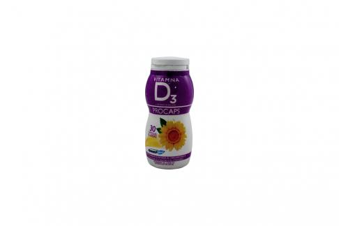 Vitamina D3 Procaps Extracto de Uvas Frasco Con 30 Cápsulas