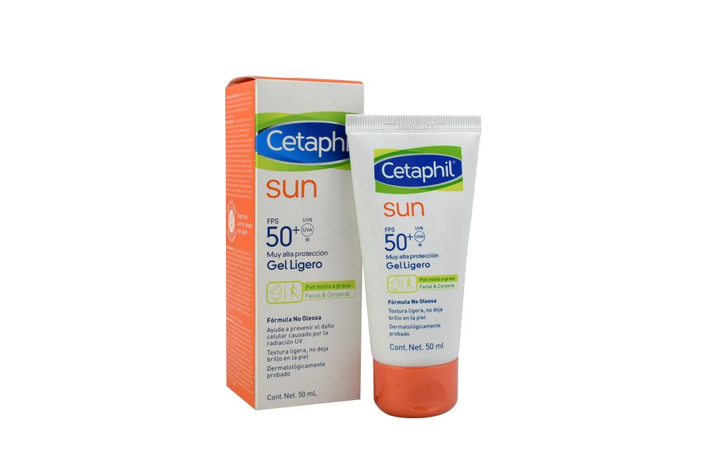 Cetaphil Sun FPS 50+ Gel Ligero Caja Con Tubo Con 50 mL